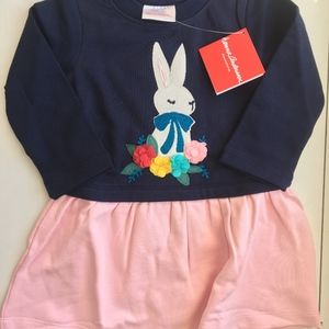 Hanna Andersson girls easter bunny dress 90 3t new